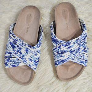 LOEFFLER RANDALL Petra Floral Piped Sandals Slides